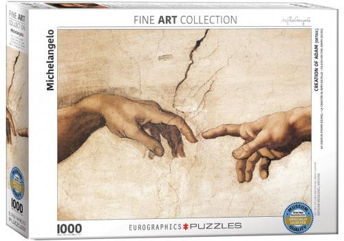 CREATION OF ADAM (DETAIL) BY MICHELANGELO // 1000 PIECE PUZZ