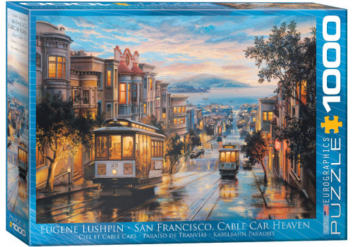 SAN FRANCISCO CABLE CAR HEAVEN BY EUGENE LUSHPIN // 1000 PIE