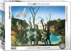 SWANS REFLECTING ELEPHANTS BY SALVADOR DALI // 1000 PIECE PU