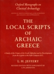 (H/B) THE LOCAL SCRIPTS OF ARCHAIC GREECE