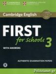 CAMBRIDGE ENGLISH FIRST FOR SCHOOLS 3 (+AUDIO)
