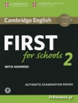 CAMBRIDGE ENGLISH FIRST FOR SCHOOLS 2  (+DOWNLOADABLE AUDIO)
