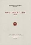 RIME IMPROVVISATE (1822)