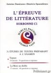 L' EPREUVE DE LITTERATURE SORBONNE C1 (2019)