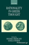 (P/B) RATIONALITY IN GREEK THOUGHT