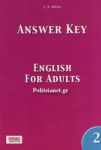 ANSWER KEY TO ENGLISH FOR ADULTS 2