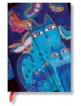 BLUE CATS AND BUTTERFLIES MIDI WRAP LINED