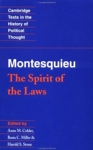 (P/B) THE SPIRIT OF THE LAWS