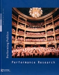PERFORMANCE RESEARCH, VOLUME 16, ISSUE 2, JUNE 2011