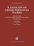 (H/B) A LEXICON OF GREEK PERSONAL NAMES (VOLUME III.B)