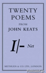 (P/B) TWENTY POEMS FROM JOHN KEATS