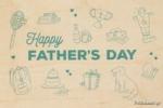 ΞΥΛΙΝΗ ΕΥΧΕΤΗΡΙΑ ΚΑΡΤΑ - FATHERS DAY