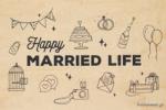 ΞΥΛΙΝΗ ΕΥΧΕΤΗΡΙΑ ΚΑΡΤΑ - MARRIED LIFE