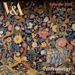 V&A TEXTILE ART 2021 MINI WALL CALENDAR
