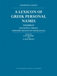 (H/B) A LEXICON OF GREEK PERSONAL NAMES (VOLUME IV)