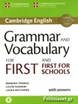 CAMBRIDGE ENGLISH GRAMMAR AND VOCABULARY FOR FIRST AND FIRST FOR SCHOOLS