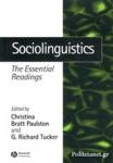 (P/B) SOCIOLINGUISTICS