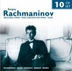 (10-CD Set) SERGEY RACHMANINOV: ORCHESTRAL WORKS, PIANO CONCERTOS AND WORKS, ALEKO