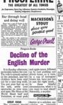 (P/B) DECLINE OF THE ENGLISH MURDER