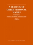 (H/B) A LEXICON OF GREEK PERSONAL NAMES (VOLUME V.A)