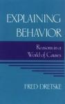 (P/B) EXPLAINING BEHAVIOR
