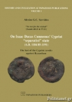 ON ISAAC DUCAS COMNENUS CYPRIOT «SEPARATIST» STATE (A.D. 1184/85-1191)
