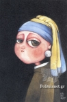 A GIRL WITH THE PEARL EARRING - CARD POSTAL